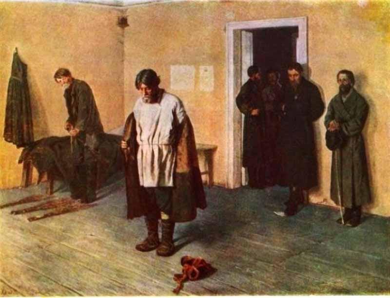Коровин Сергей. В волостном суде. 1884
