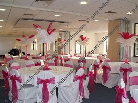 fuschia Wedding Reception Table Decorations   Hot Pink