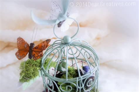 decorate mini bird cages  decor