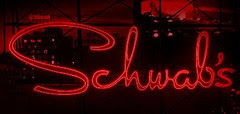 Schwab's Drugs, recreated neon sign