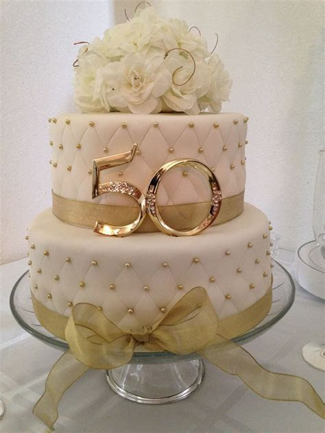 50th Anniversary Cakes on Pinterest   Golden Anniversary