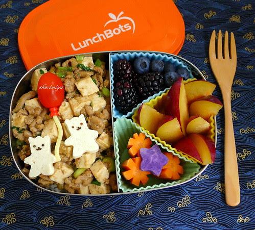 Mabo Tofu Bear LunchBots Bento by sherimiya ♥