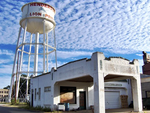henderson water tower and old service station