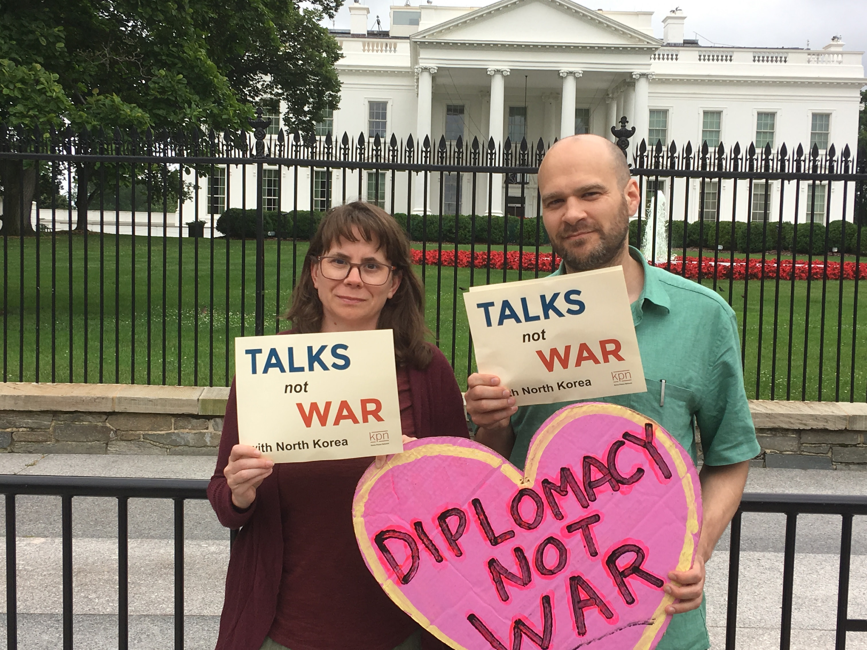 Michelle Cunha and Mike Van Elzakker at Korea Peace Network's lobby days, June 11-12
