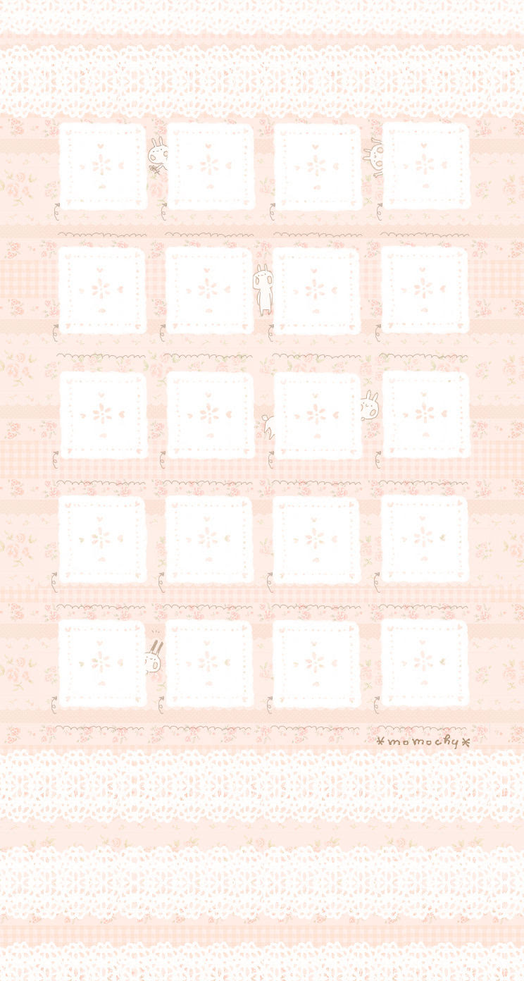 Iphone用うさぎ壁紙改訂版 イラストレーター Momochy オフィシャル