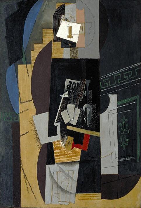 """""""El jugador de cartas"""" fue realizada en 1913. Actualmente se encuentra en el Museo de Arte Moderno, Copenhague de Dinamarca."""