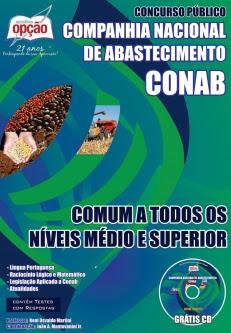 APOSTILA COMUM A TODOS OS NÍVEIS - MÉDIO E SUPERIOR - e-ASSISTENTE – NÍVEL MÉDIO  no concurso 2014 da CONAB