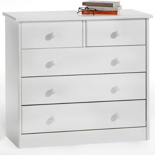 Commode en pin lasur blanc 2 3 tiroirs commodes - Commode 3 tiroirs blanc ...