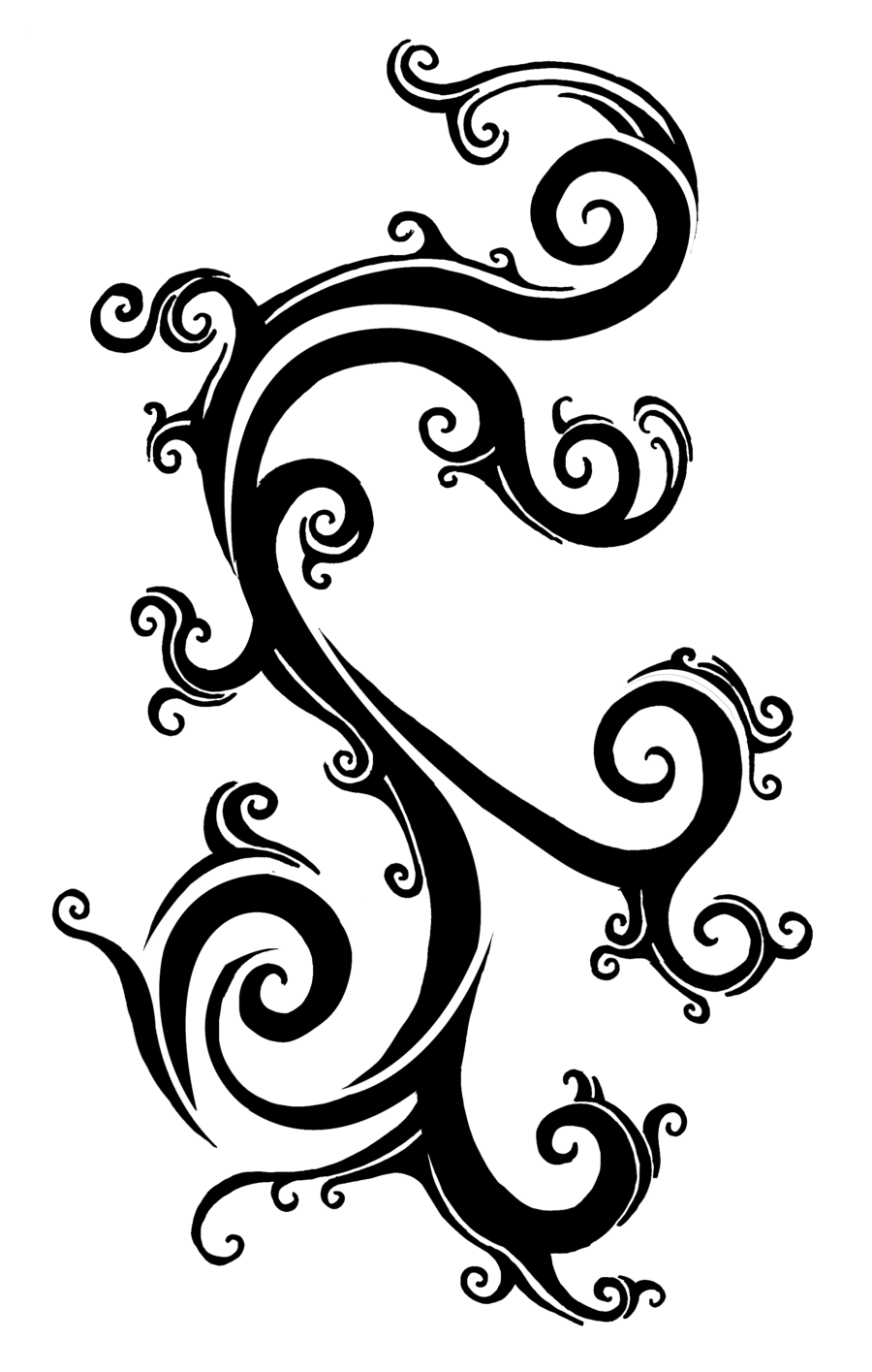 Tattoos For Tribal Rose Vine Tattoo Designs Clip Art Library