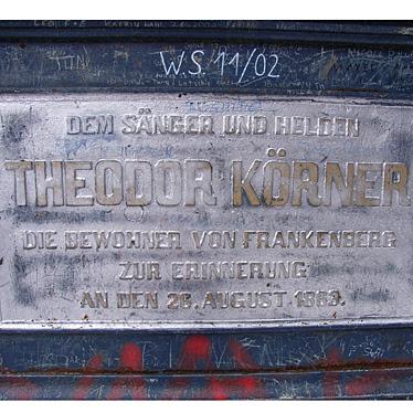 Gedenktafel am Körnerdenkmal