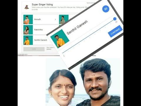 super singer 6 vote for senthil ganesh