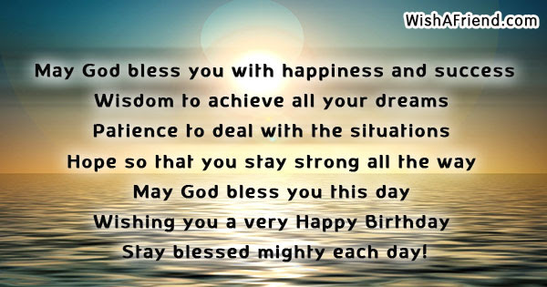May God Bless You With Happiness Christian Birthday Quote