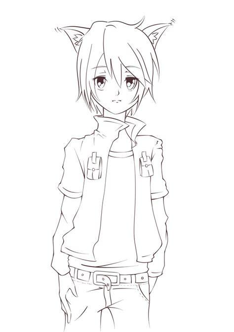 anime cat ears drawing  getdrawingscom