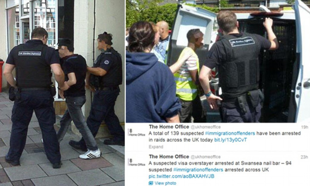 Image result for uk border force arrest illegal immigrants on the street of london