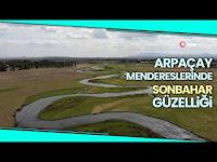 Hazar Denizi'ne Dökülen Arpaçay Menderesleri Havadan Görüntülendi - İhlas Haber Ajansı