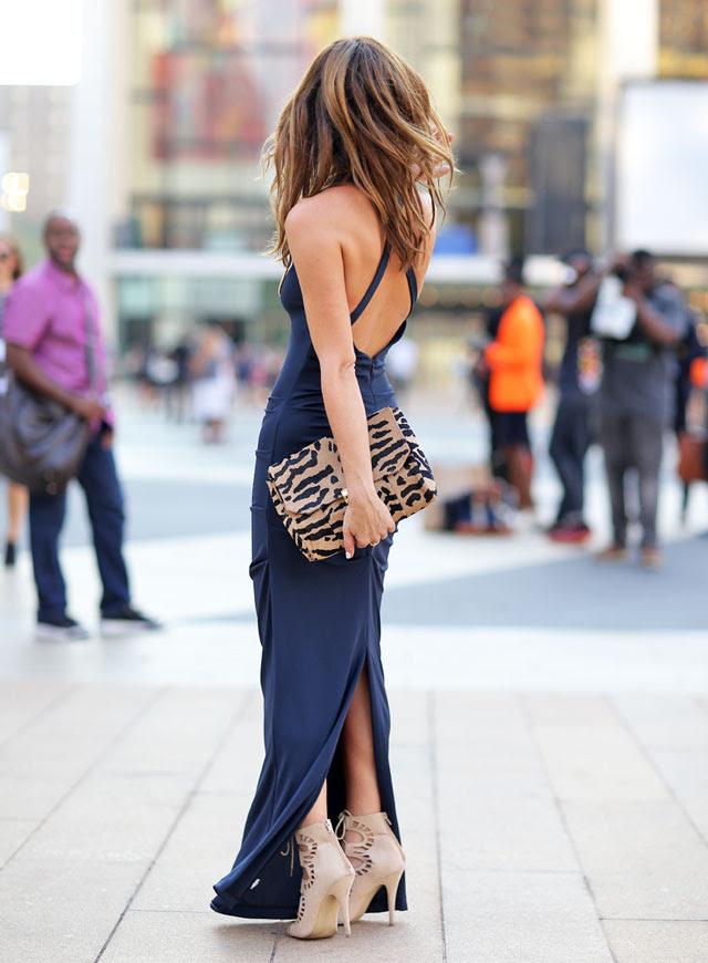 Sydne-Style-New-York-Fashion-Week-Street-Style-Nicole-Miller-fashion-blogger-navy-fall-trends-leopard-clutch-open-back