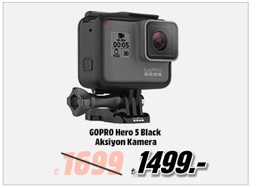 GOPRO Hero 5 Black Aksiyon Kamera 1499TL