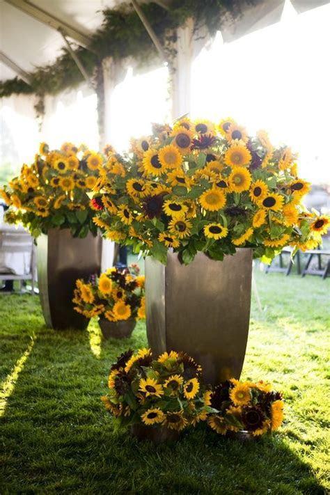Sunflowers, Wedding flower centerpieces and Decor wedding