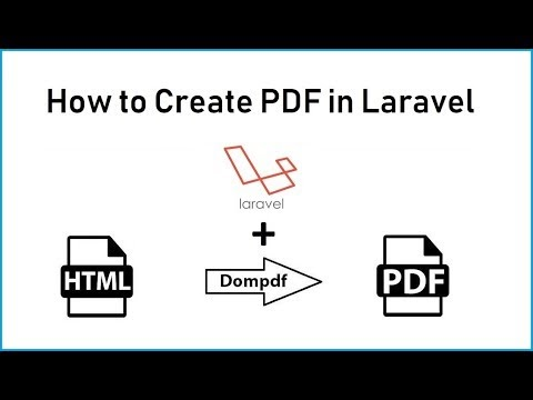 Laravel - How to Generate Dynamic PDF from HTML using DomPDF