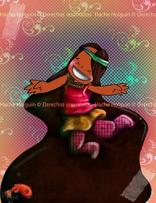 Ilustración Hippie