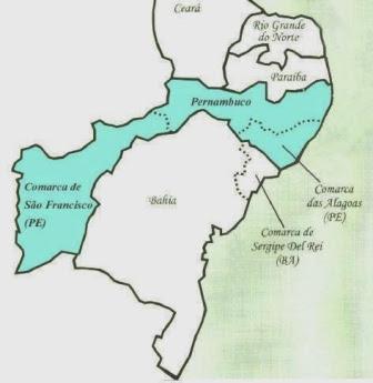 Resultado de imagem para Veja o mapa do Nordeste na época da Revolução Pernambucana