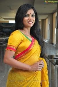 Actress Usha Jadhav In Yellow Saree Photos