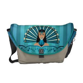 Egyptian Peacock Princess Rickshaw Messenger Bag rickshawmessengerbag