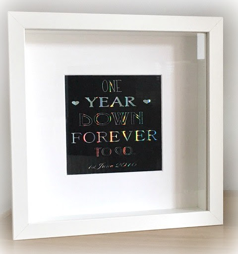1 Year Anniversary Gift Sparkles Glitter