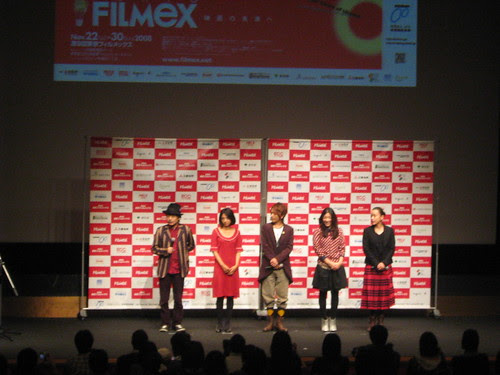 Director Sono Sion and the cast members of LOVE EXPOSURE