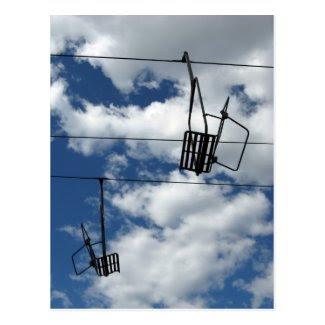 Ski Lift and Sky Post Card
