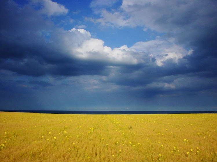 storm colors field clouds