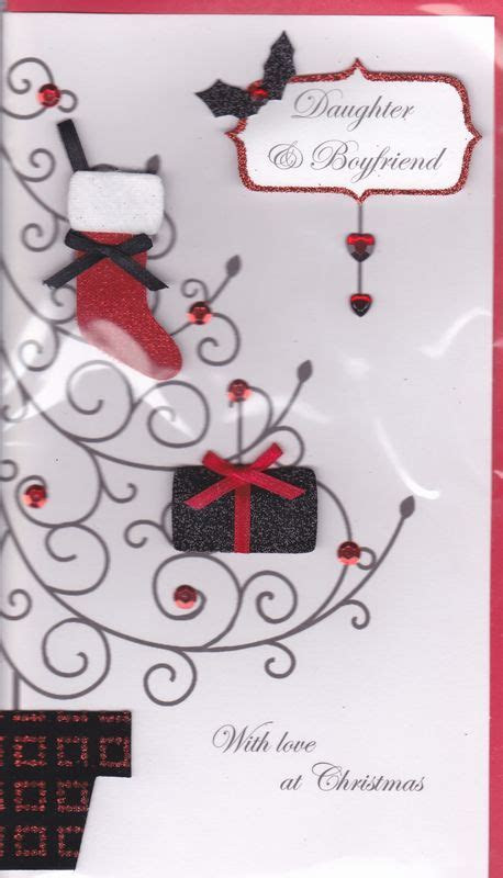 Handmade Daughter & Boyfriend Christmas Card   Karenza Paperie