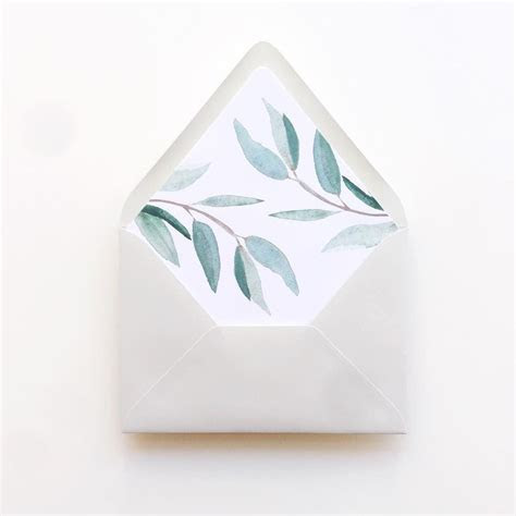 Lovely eucalyptus envelope liners    G r e e n in 2019