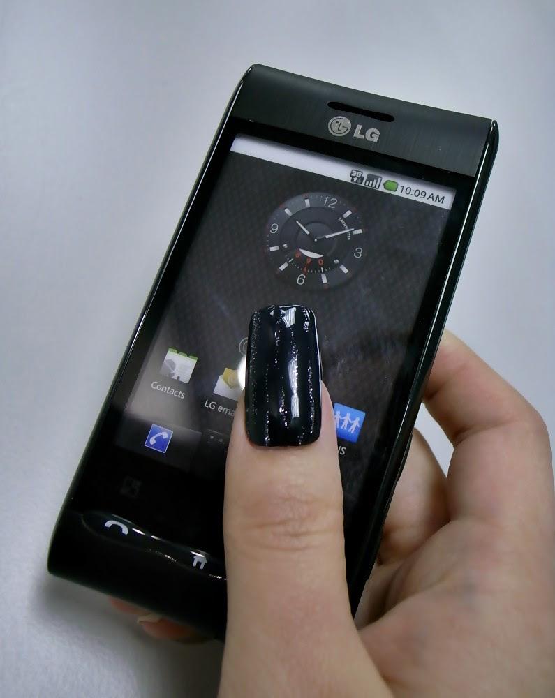 黑色美甲 LG GT540 Android