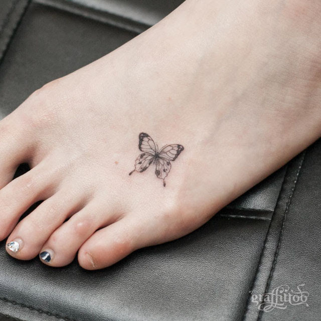 Butterfly Tattoo On Foot Best Tattoo Ideas Gallery