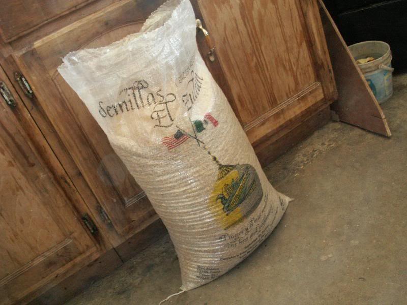 A 50 pound bag of wheat!