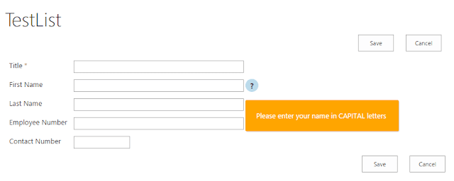 How to Add Help Button Next to SharePoint Field Name