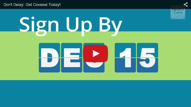 YouTube Embedded Video: Don't Delay: Get Covered Today!