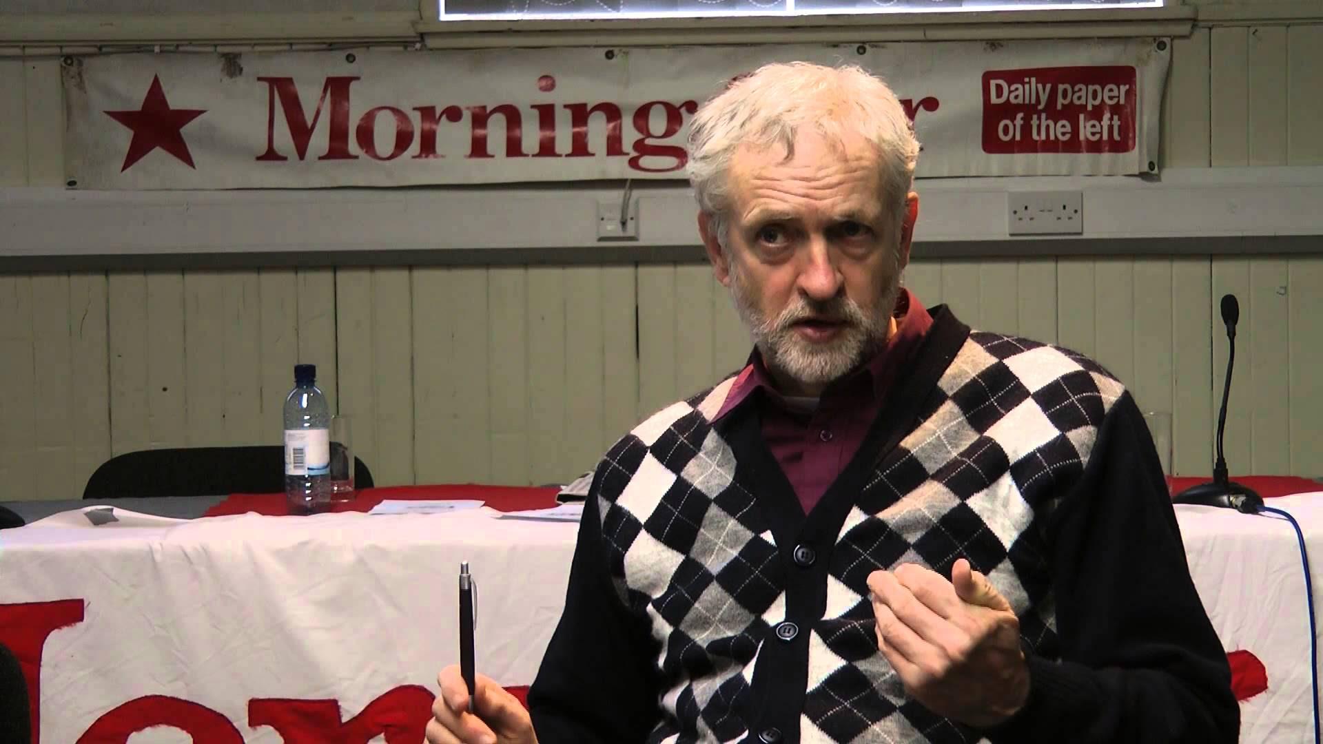 Jeremy Corbyn wears cardigan