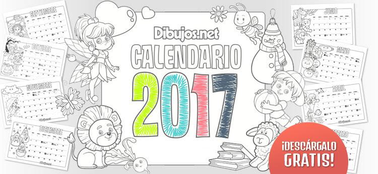 Calendario Infantil 2017 Para Imprimir Y Colorear Dibujos Net