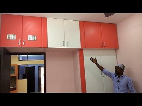 Poppy Colour & White Colour Wardrobes & TV Unit Box for Ramya Modular Ki...