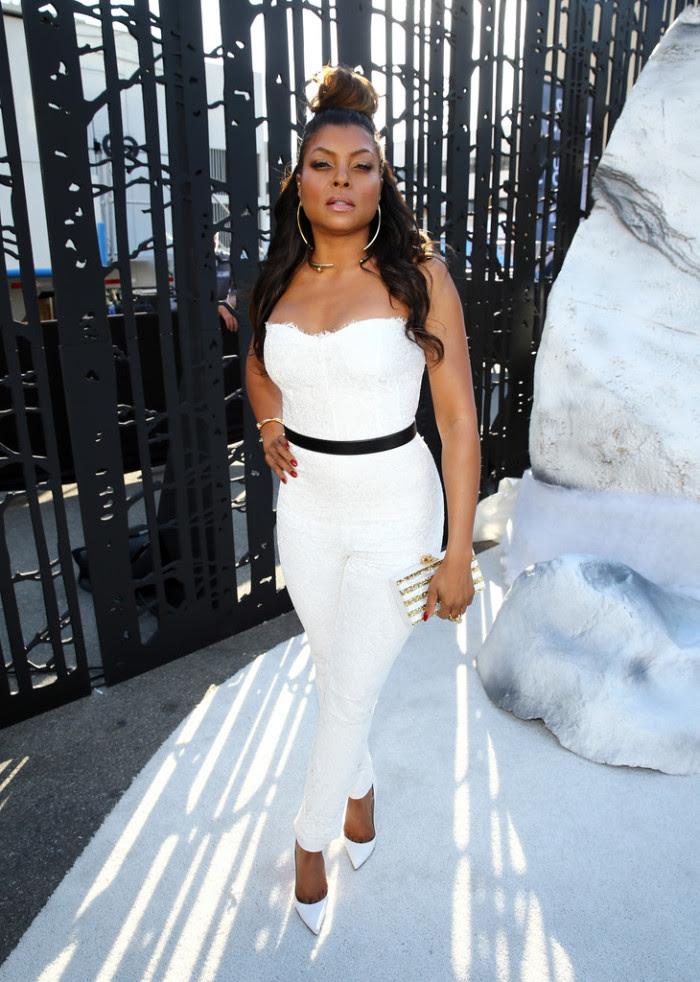 Taraji P. Henson Spike TV's Guy's Choice Monique Lhuillier White Jumpsuit