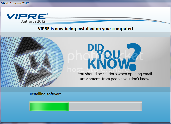 Vipre is being installed