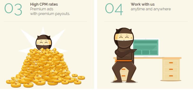 shorte.st make money from links