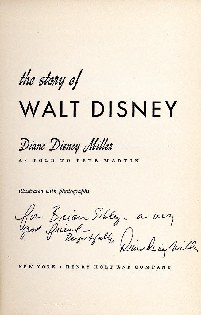 Disney Biography (US edition), autographed by Disney Disney Miller