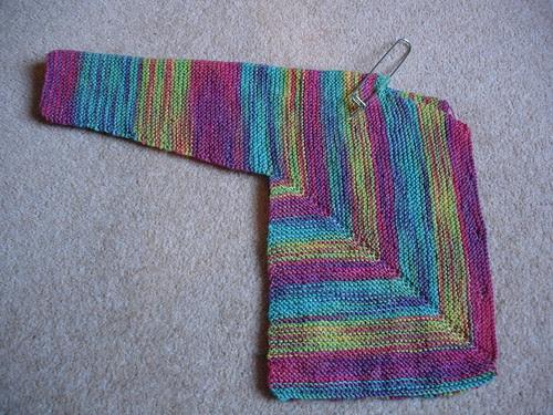 Rainbow cardigan WIP (2)