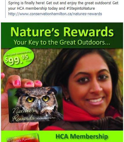 natures rewards hamilton conservation authority