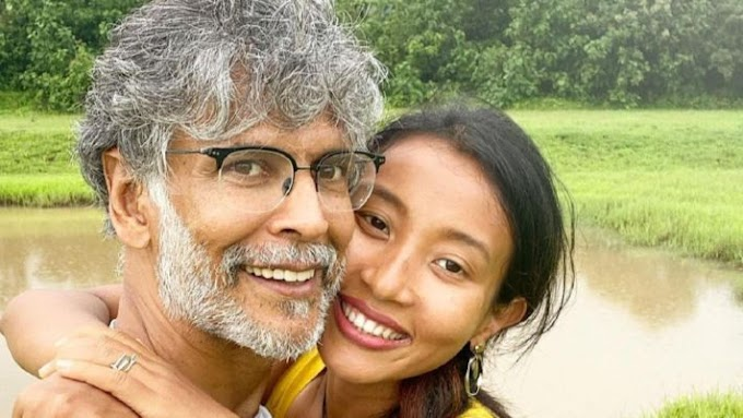 Ankita Konwar is profiting from her beach time. Milind Soman wishes he was there