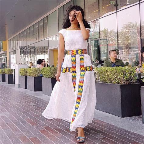 yordanos design modern ethiopian dress.   Habesha Kemis