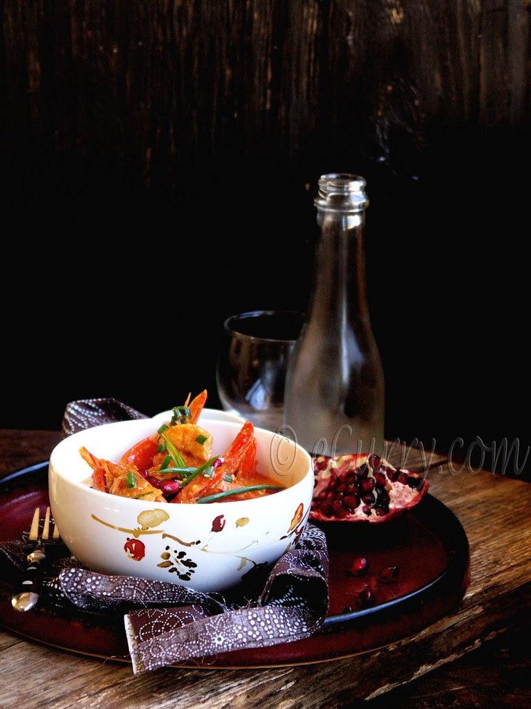 Shrimp with Pomegranate and Coconut Milk 1